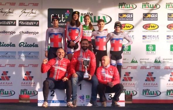 La Rappresentativa Piemontese vincitrice Coppa Italia Ciclocross