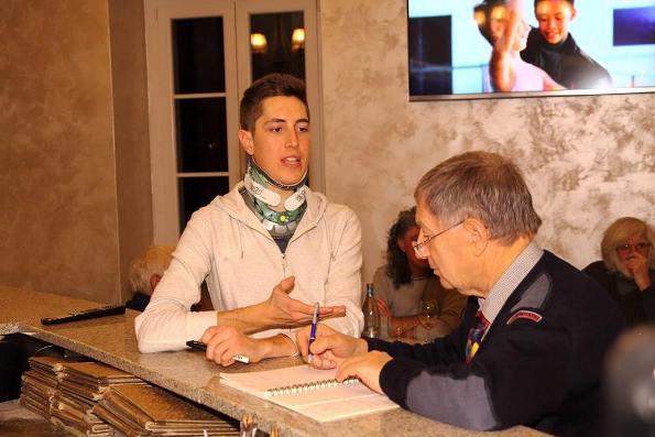 Petilli risponde alle domande di Vito Bernardi (Foto Castelli)