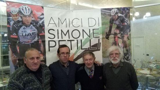 Da sinistra, Castelli, Giorgini, Vito ed Eugenio