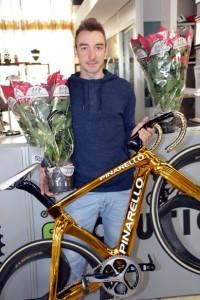 Vallese di Oppeano, 07.12.2017 - L'Olimpionico Elia Viviani Testimonial della campagna Le Stelle di Natale contro le leucemie (Pyhotobicicailotto)