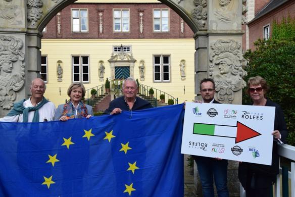 Da sinistra, Herman Toben, Caroline Freifrau von Landsberg-Velen, Wim Mense, Wubbo Heres (EDR) e Rien Toben.