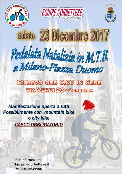 12.10.2017 - Pedalata Natalizia Equipe Corbettese