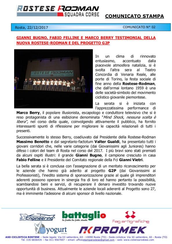 21.12.2017 - Com stampa Rostese Rodman