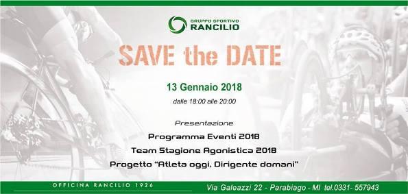 """11.01.2018 – Parabiago (Milano) – GS Rancilio : Presentazione Squadra Juniores 2018 e Progetto """"Atleta Oggi, Dirigente Domani"""""""