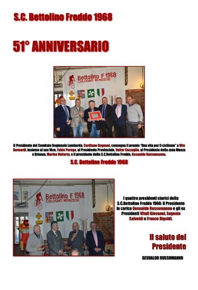 04.02.2018 – Cologno Monzese (Monza&Brianza) – Pranzo sociale del 51° dalla Fondazione della S.C. Bettolino Freddo