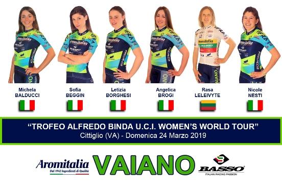 21.03.2019 – Vaiano (Prato) – Team Aromitalia per il Trofeo Binda