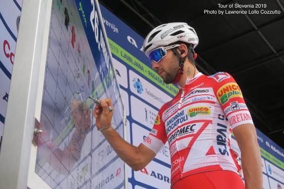 21.06.2019 – Celje (Slovenia) – Andrea Vendrame terzo a Celje nella 2° tappa del Giro di Slovenia