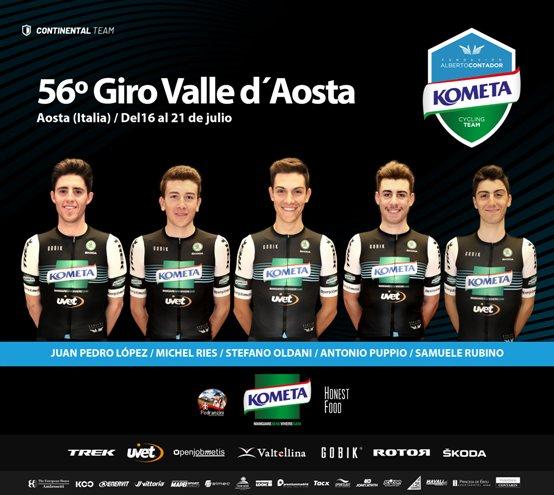 15.07.2019 – Aosta – 56° Giro della Valle D'Aosta col Team Kometa Cycling Team