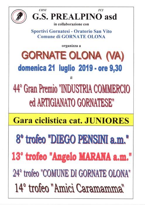 15.07.2019 – Gornate Olona (Varese) – Juniores :