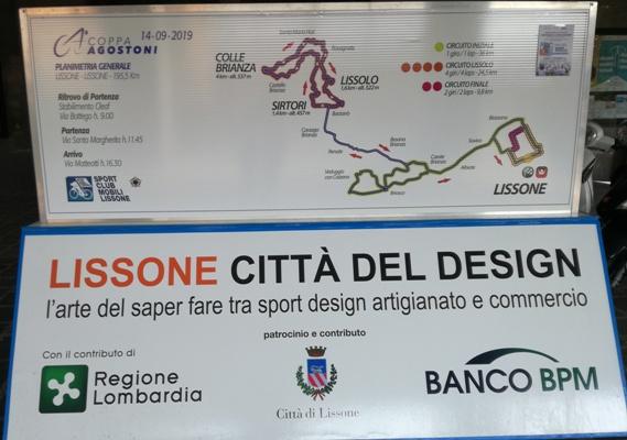 """13.09.2019 – Lissone (Monza&Brianza) – """"Trittico Regione Lombardia : 73° Coppa Ugo Agostoni a Lissone domani 14 settembre 2019"""