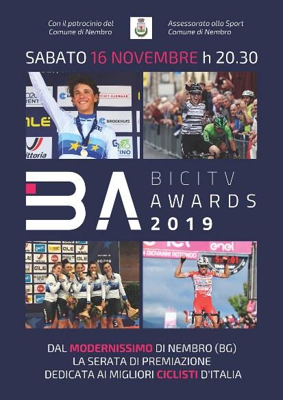 09.11.2019 – Nembro (Bergamo) – Bici Tv Awards 2019 : Sabato serata per le premiazioni al Modernissimo