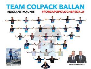 """07.04.2020 – Bergamo . """"Team Elite-Under 23 Colpack-Ballan"""" : Tempi di Corona Virus?, ecco come ci siamo adeguati"""