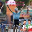 27.06.2017 – Ivrea (Piemonte Tricolore) – Christian Pisoni si congratula con l'Amico Fabio Aru – Fotocomposizione di Antonio Pisoni
