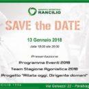 """11.01.2018 - Parabiago (Milano) - GS Rancilio : Presentazione Squadra Juniores 2018 e Progetto """"Atleta Oggi, Dirigente Domani"""""""