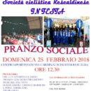 17.02.2018 - S.C. Rescaldinese 1945 : Domenica 25 Febbraio 2018, Pranzo Sociale inaugurazione Stagione Agonistica 2018