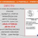 """19,02.2018 - Costamasnaga (Lecco) - Invito presentazione squadra UC Costamasnaga-La Piastrella-System Cars 2018"""""""