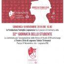 17,11,2018 - Legnano (Milano) - 32° Giornata dello Studente - Consegna Borse di Studio