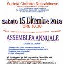 """09.12.2018 - Rescaldina (Milano) - Sabato 15 Dicembre 2018, Assemblea annuale della """"S.C. Rescaldinese 1945"""""""