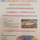 """08.02.2019 - Rescaldina (Milano) - S.C. Rescaldinese 1945 : Domenica 17 febbraio pranzo sociale presso il Palatenda del centro sportivo """"Cardinal Shuster"""""""