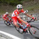 """25.05.2019 - Courmayeur (Aosta) -  Courmayeur, Giro 102 : Sempre in evidenza i """"Tricolori d'Italia"""" che ricevono la gradita visita del main sponsor Mario Androni"""