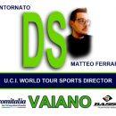 """23.05.2019 - Vaiano (Prato) - Ciclismo Femminile : """"Aromitalia Basso Bikes-Vaiano"""" Rientra nello staff il tecnico varesino Matteo Ferrari"""