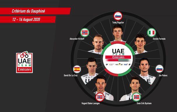 10.08.2020 – Magnago (Milano) – Squadra UAE per il Criterium del Delfinato
