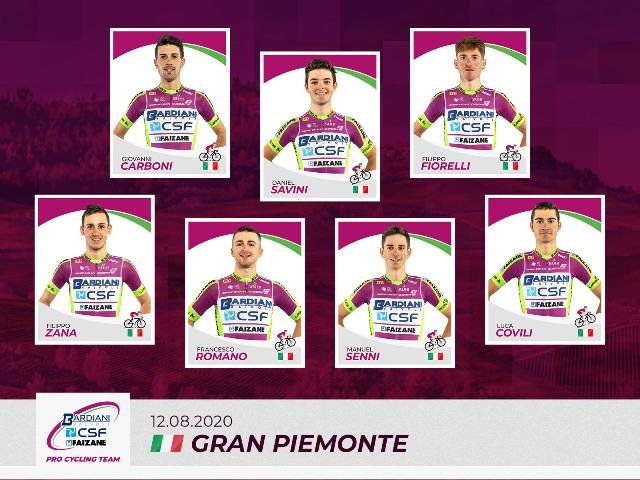 """10.08.2020 – Barco di Bibbiano (Reggio Emilia) – Team Bardiani-Csf-Faizanè per il """"Gran Piemonte"""""""
