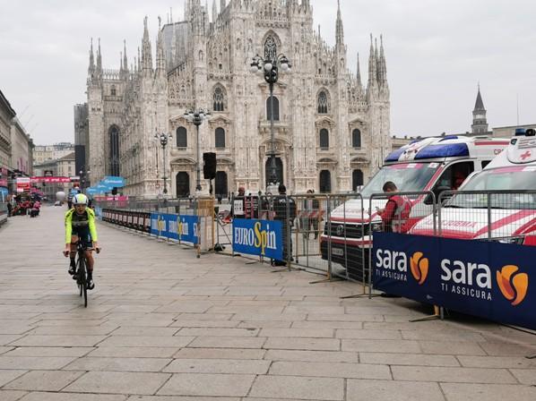 25.10.2020 – Milano – Luca Scinto : E' stato sicuramente un buon Giro d'Italia nel quale siamo anche stati protagonisti nonostante i forzati ritiri di Giovanni Visconti e Luca Wackermann